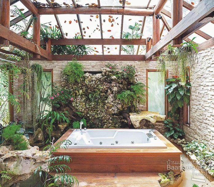 ไอเดียจัดสวนในห้องน้ำ