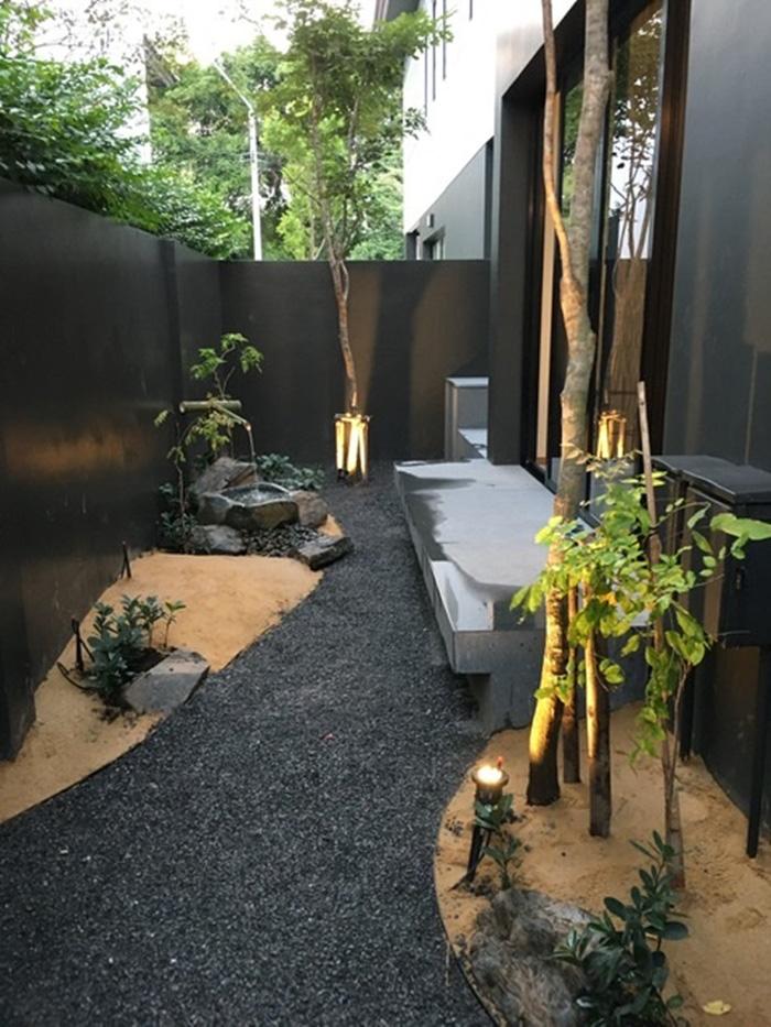 จัดสวนญี่ปุ่นข้างบ้านง่ายๆ