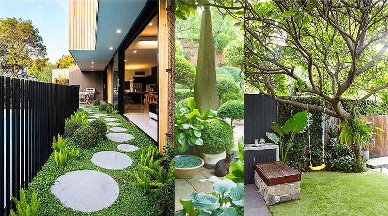 Landscaping in front house